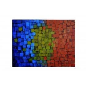 Saphir, topaze, rubis - tableau peint-main peinture à l'huile