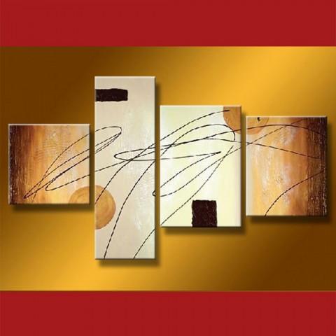 tableaux abstrait idee deco salon tableau triptique. Black Bedroom Furniture Sets. Home Design Ideas