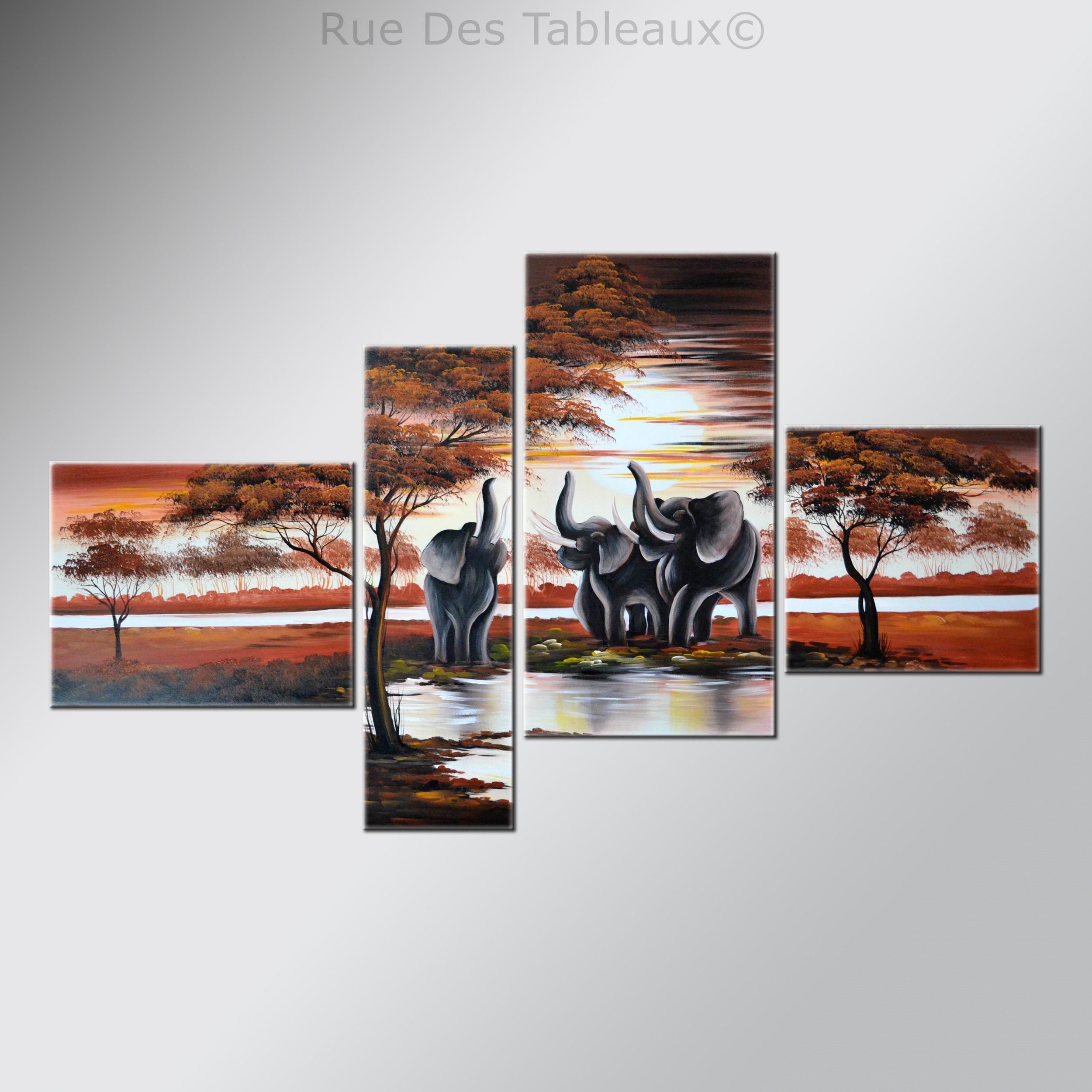 L'Appel de la jungle - tableau peint-main peinture à l'huile