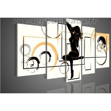 Sensualité 2 - tableau peint-main peinture à l'huile