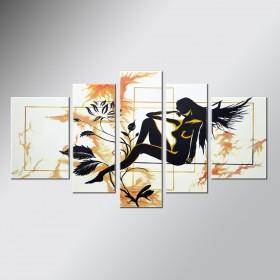 Une fleur parmi les fleurs 3 - tableau peint-main peinture à l'huile