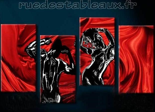 Force et sensualité - tableau peint-main peinture à l'huile