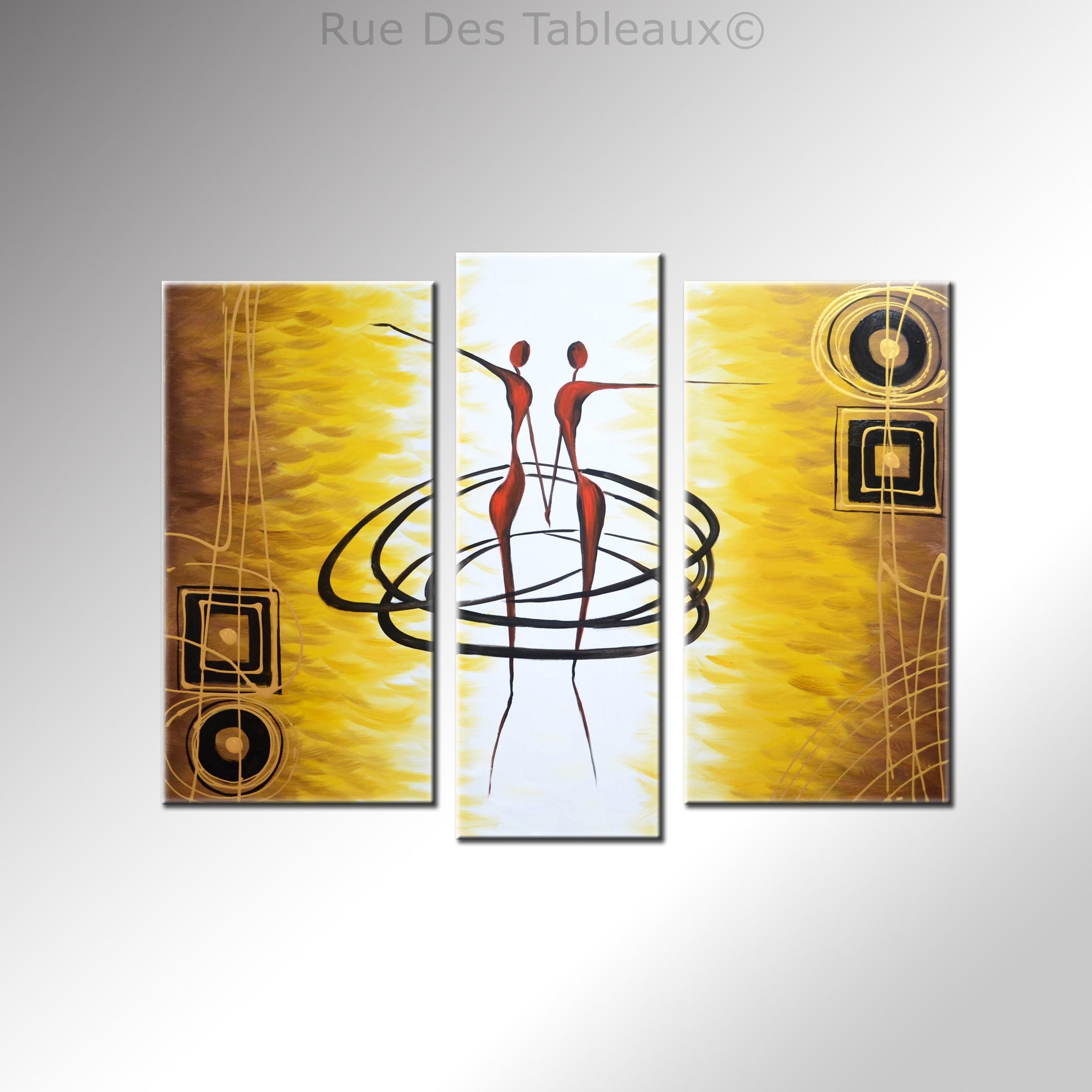 Attrayant Rue Des Tableaux #8: Danse Du Soleil - Tableau Peint-main Peinture à Lu0027huile