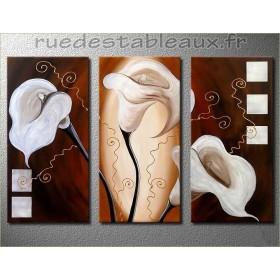 Trio d'aromes - tableau peint-main peinture à l'huile