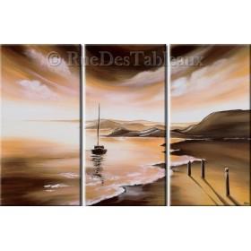 Nonchalance marine - tableau peint-main peinture à l'huile