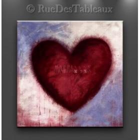 Heart - tableau peint-main peinture à l'huile