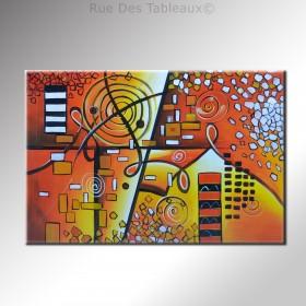 Souvenirs de la médina - tableau peint-main peinture à l'huile