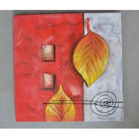 Carré de jardin - tableau peint-main peinture à l'huile