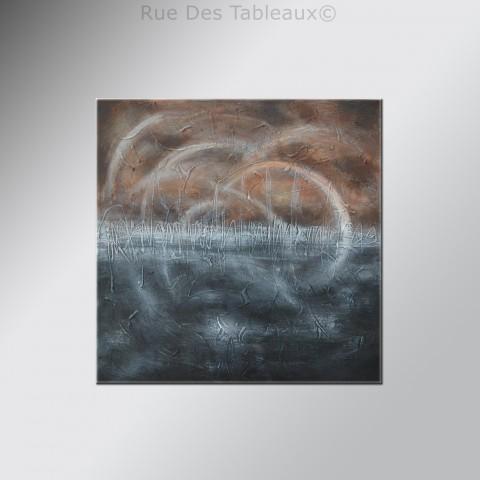 Volutes par temps fumé - tableau peint-main peinture à l'huile