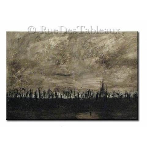 Terre brûlée - tableau peint-main peinture à l'huile