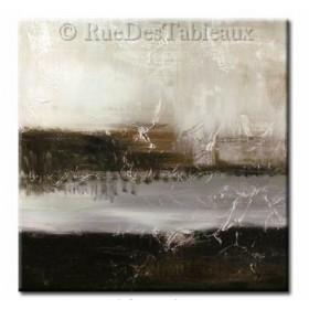 Sur les bords du styx - tableau peint-main peinture à l'huile