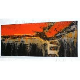 Le feu de l'enfer - tableau peint-main peinture à l'huile