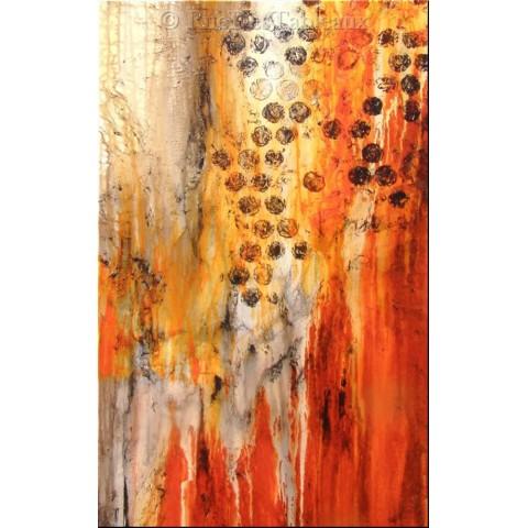 Mue de reptile - tableau peint-main peinture à l'huile