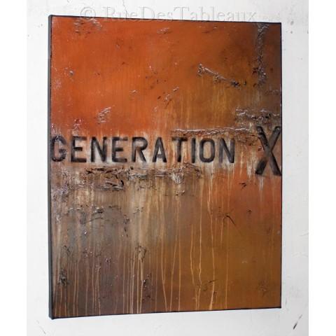 Génération x - tableau peint-main peinture à l'huile
