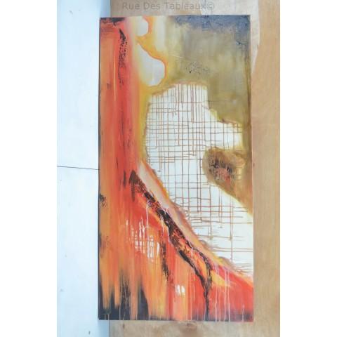 Brûlure de soleil 2 - tableau peint-main peinture à l'huile