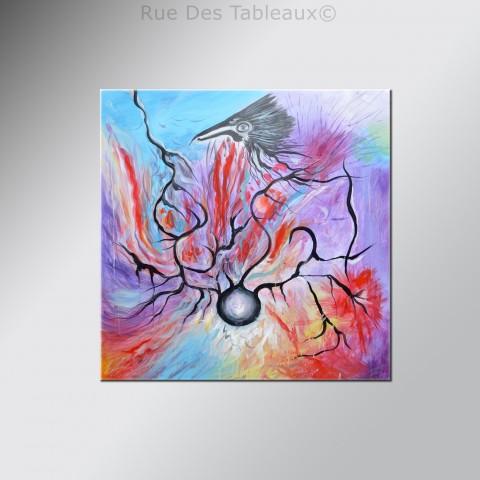 Cauchemar animalier - tableau peint-main peinture à l'huile
