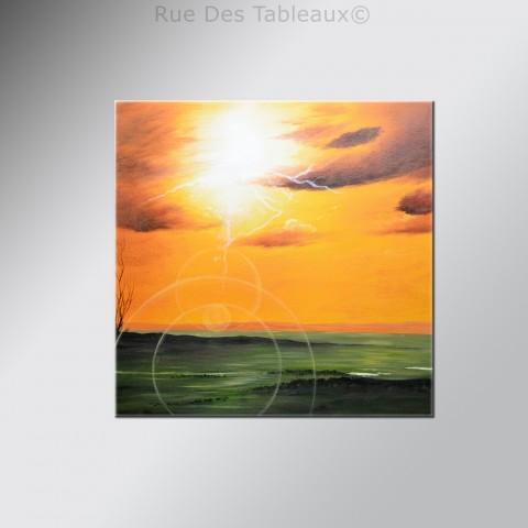 Tableaux abstrait tableau contemporain rouge peinture moderne - Tableau contemporain abstrait design ...