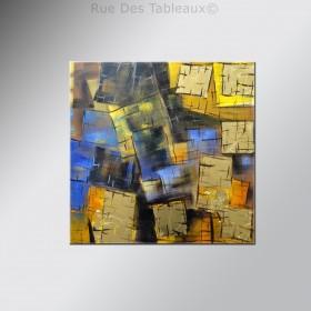 Puzzle doré - tableau peint-main peinture à l'huile