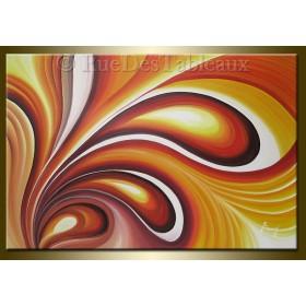 Arabesques 1 - tableau peint-main peinture à l'huile