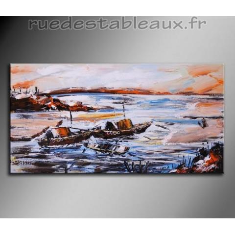 Triptyque paysage artiste contemporain tableau en - Tableau en bois enfant ...