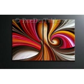 Arabesques 2 - tableau peint-main peinture à l'huile