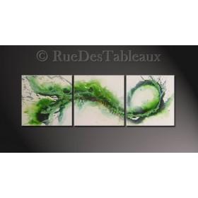 Crocodile fossile - tableau peint-main peinture à l'huile