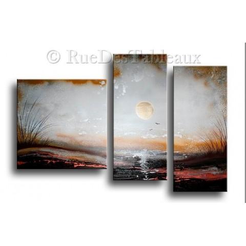 Grand luminaire - tableau peint-main peinture à l'huile