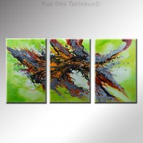 Vue aérienne - tableau peint-main peinture à l'huile
