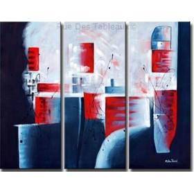 Blanc envahissant - tableau peint-main peinture à l'huile