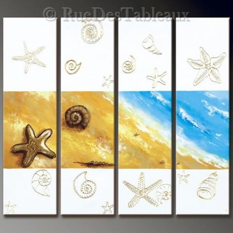 Souvenirs marins - tableau peint-main peinture à l'huile