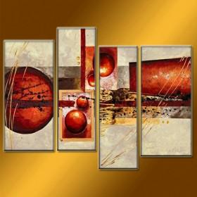 Géométrie variable - tableau peint-main peinture à l'huile