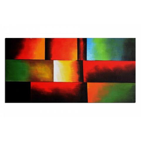 Tableaux abstrait decoration pas cher tableau peinture - Tableau en bois enfant ...