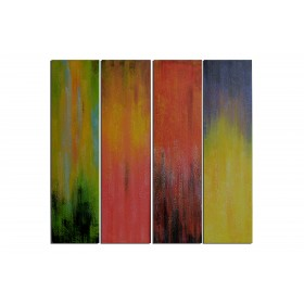 Couleurs indécises - tableau peint-main peinture à l'huile