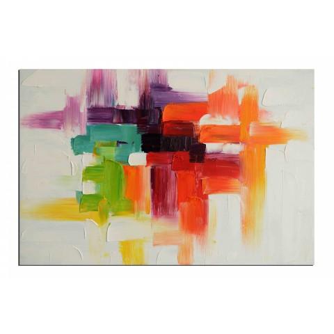 Tout en relief - tableau peint-main peinture à l'huile