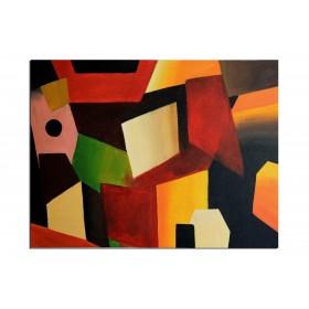 Polygone destructurés - tableau peint-main peinture à l'huile