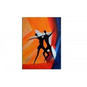Salsa - tableau peint-main peinture à l'huile