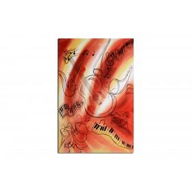 Fanfare - tableau peint-main peinture à l'huile
