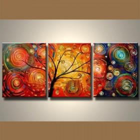 Arbre en fête - tableau peint-main peinture à l'huile