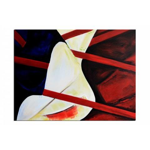 Prisonnière par amour - tableau peint-main peinture à l'huile