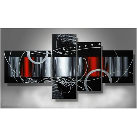 Fenêtres sur le futur - tableau peint-main peinture à l'huile