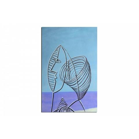 Pèche à l'épuisette - tableau peint-main peinture à l'huile