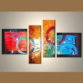 Festival de couleur - tableau peint-main peinture à l'huile