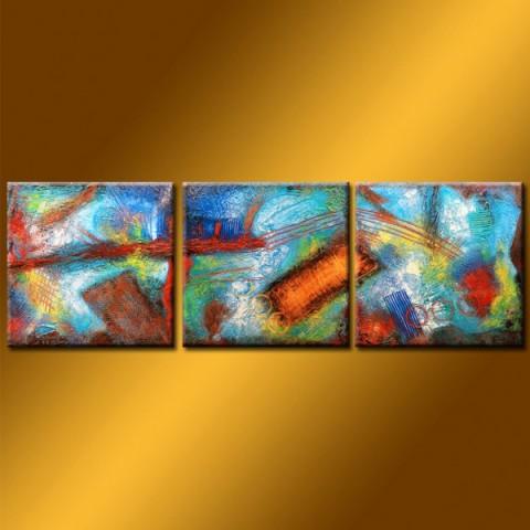 Into the wood - tableau peint-main peinture à l'huile