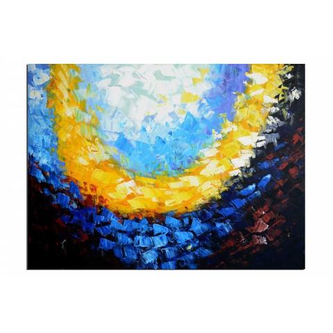 Collier de sequins - tableau peint-main peinture à l'huile