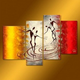 Valse sur l'eau - tableau peint-main peinture à l'huile