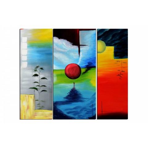 Le monde à l'envers - tableau peint-main peinture à l'huile