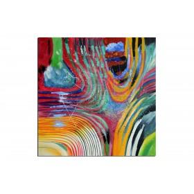 Les sillons - tableau peint-main peinture à l'huile