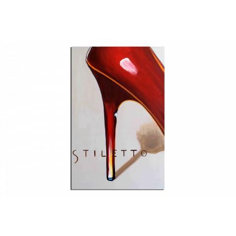 Stiletto - tableau peint-main peinture à l'huile