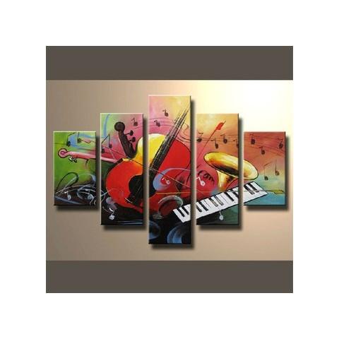Orchestre Musical   Tableau Peint Main Peinture à Lu0027huile