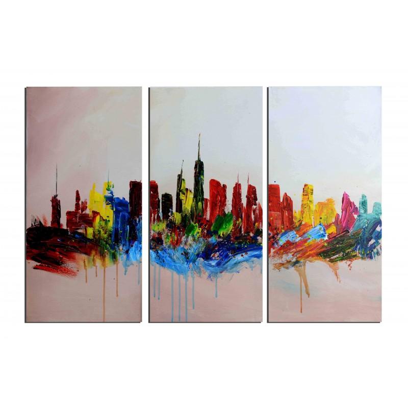 peinture tableaux ville rues des tableaux toiles huile. Black Bedroom Furniture Sets. Home Design Ideas